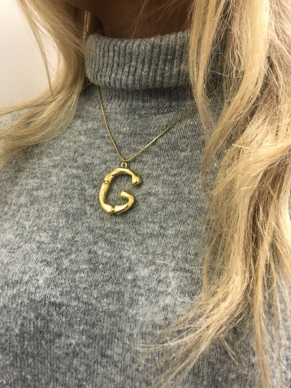 18Kt GOLD PLATED INITIAL NECKLACES