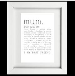 True Mum Framed Print