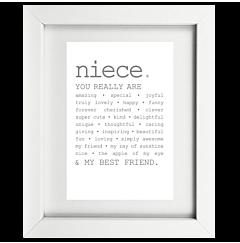 True Niece Framed Print