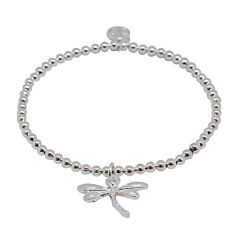 DRAGONFLY SILVER PLATED BRACELET