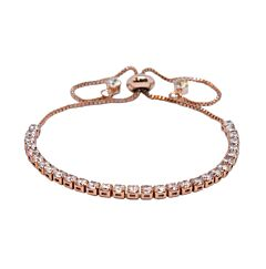 ALL ROUND CRYSTAL ROSE GOLD  PLATED BRACELET WITH CRYSTAL DROPLETS