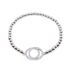 DOUBLE CIRCLE STERLING SILVER BRACELET