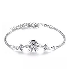 CIRCLE CHAIN STERLING SILVER BRACELET