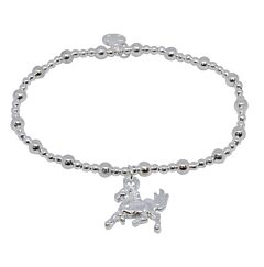UNICORN SILVER PLATED BRACELET