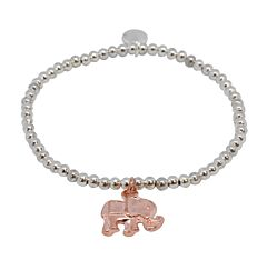 ROSE GOLD ELEPHANT SILVER PLATED BRACELET